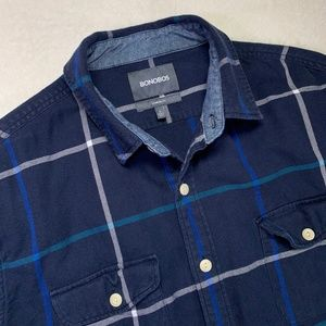 Bonobos Standard Fit Blue Shirt Size Large
